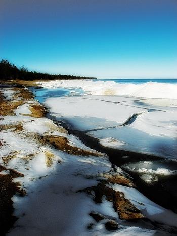 Winter on Lake Huron