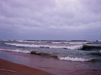 lake ocean storm